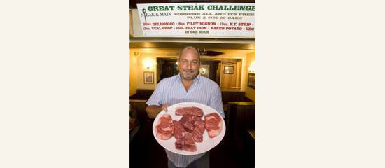 the great steak challenge at steak & main