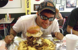bluto burger challenge at bulldogs grill